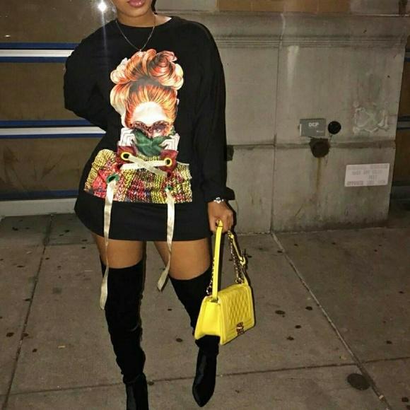 Dresses & Skirts - SOLD   Sweatshirt dress size L  worn once